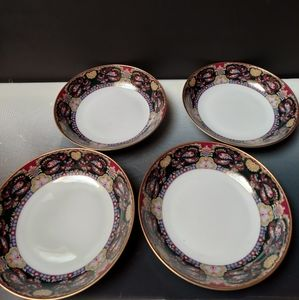 Muirfield royal paisley 4 soup cereal bowls